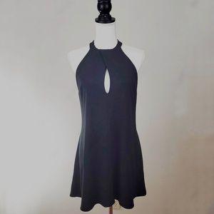 Lulus Black Halter Skater Dress7